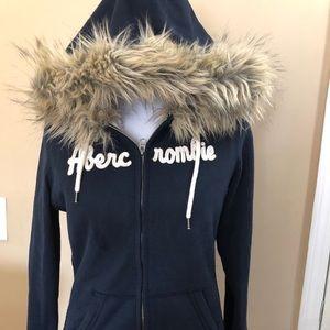 Abercrombie large navy blue hoodie